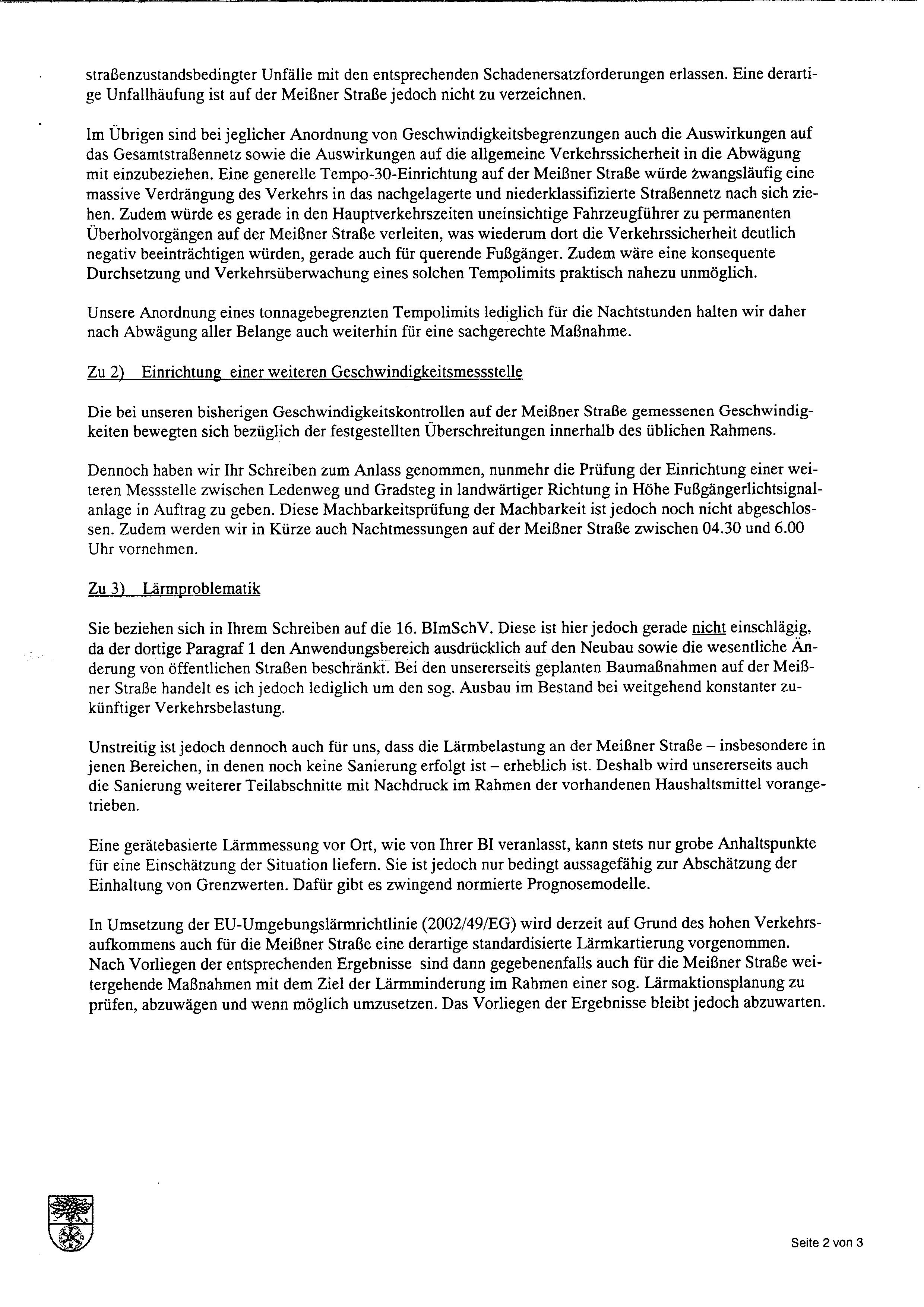 Erneutes Antwortschreiben von OB Wendsche | Bürgerinitiative ...